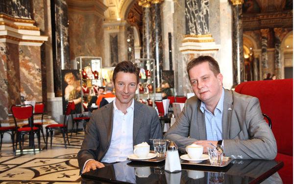 Cafe mit Ausblick im Kunsthistorischen Museum Wien