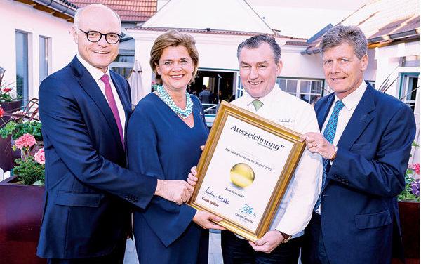 Goldene Roulette Kugel 2017 für Toni Mörwald