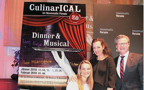 Dinner & Musical Culinarical 2.0 im Novomatic Forum