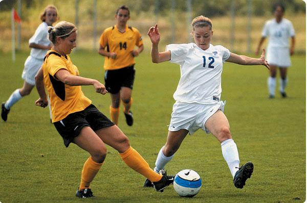 Fußballprogramm abgestimmt auf Mädchen