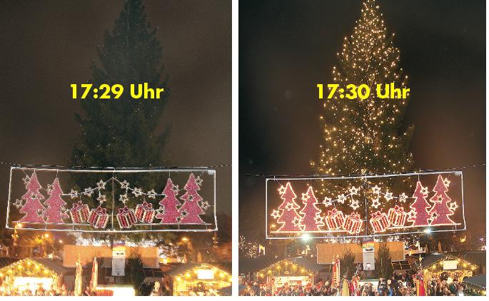 Weihnachtswelt im Rathauspark