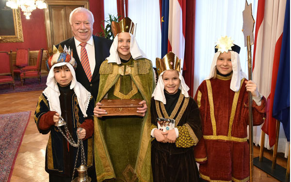 Sternsinger bei Bürgermeister Häupl